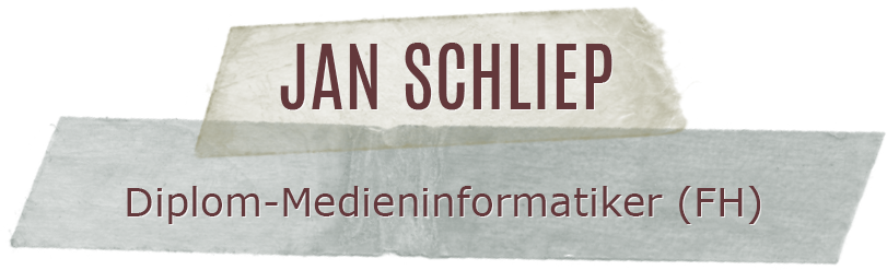 Jan Schliep | Diplom-Medieninformatiker (FH)
